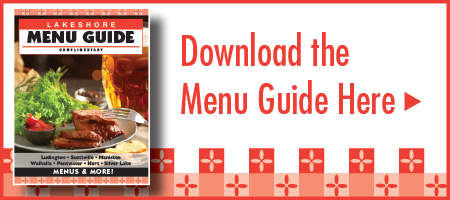 Lakeshore Menu Guide Restaurants