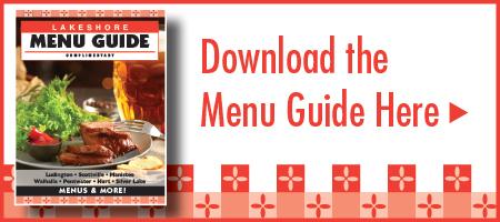 Lakeshore Menu Guide Restaurants