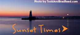 Sunset Times in Ludington, West Michigan