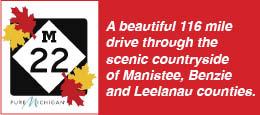 M-22 Manistee Benzie Leelanau Northern West Michigan Color Tours