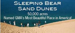 Sleeping Bear Sand Dunes Lake Michigan