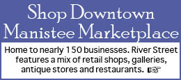 Shop downtown Manistee Michigan